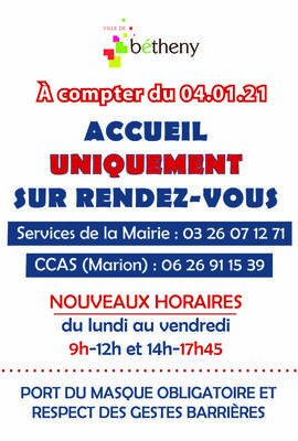 Horaires Mairie / Couvre-feu