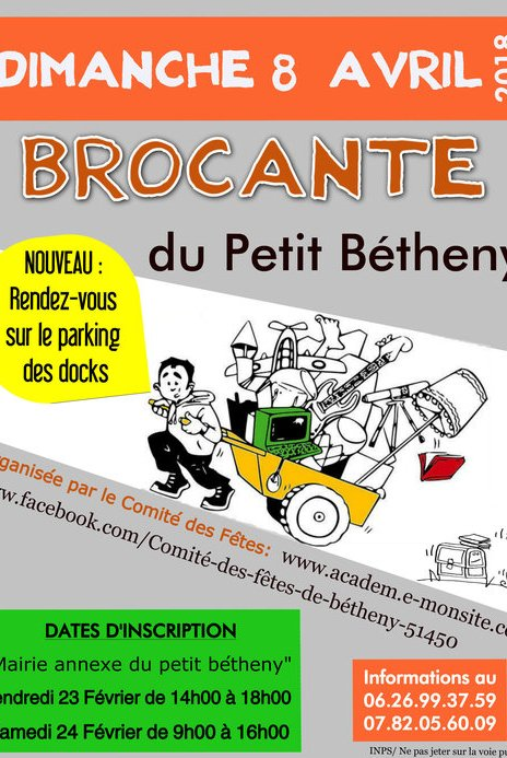Inscriptions brocante du Petit-Bétheny